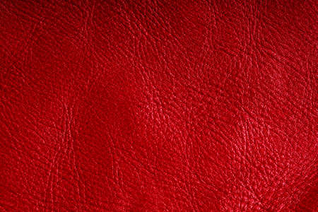 Red leather texture closeup grunge background  Country western background, cowboy rawhide design, abstract pattern photo