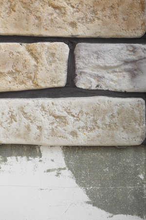 clinker tile: Renovaci�n en la pared de su casa la base del pegamento del azulejo de clinker y de fin para la colocaci�n de baldosas
