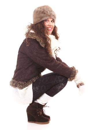 c9d9dae260b6 La Moda De Invierno Mujer Hermosa En Ropa De Abrigo De Cuerpo Entero ...