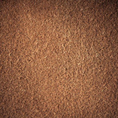 Brown natural leather texture closeup grunge background, skin design abstract pattern  Square format photo