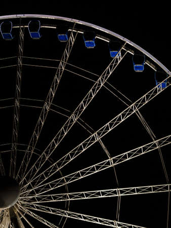 observation wheel: Ferris observation wheel in Poland Gdansk Old Town, night view.