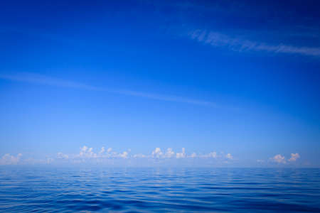 oceanscape: Beautiful seascape evening sea horizon and sky. Tranquil scene. Natural composition of nature. Landscape.