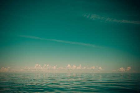 oceanscape: Beautiful seascape evening sea horizon and sky.