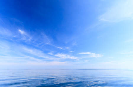 oceanscape: Beautiful seascape sea horizon and sky. Tranquil scene. Natural composition of nature. Beauty landscape.