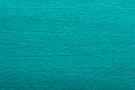 cotton fabric: Green blue fabric textile material, cotton as texture pattern background or backdrop Stock Photo