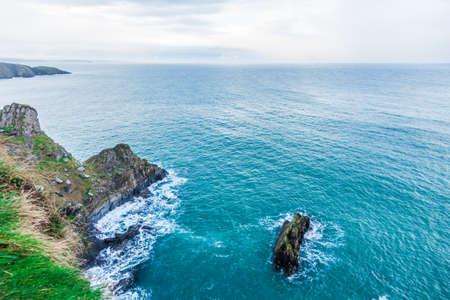 irish countryside: Irish landscape. Coastline atlantic ocean rocky coast scenery. County Cork, Ireland Europe