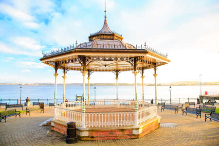 co cork: COBH, IRELAND - NOVEMBER 26 : Kennedy Park with Victorian bandstand (The Prom) on November 26, 2012 in Cobh Co. Cork Ireland