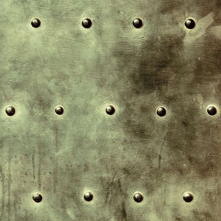 stell: grunge metal plate or armour texture with rivets as background