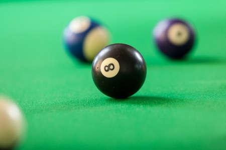 Billard boules de repère sur la table verte. jeu de billard Banque d'images - 68319378