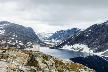 観光・旅行Stranda より og ムーレ、ノルウェーのスカンジナビアの Djupvatnet 湖。