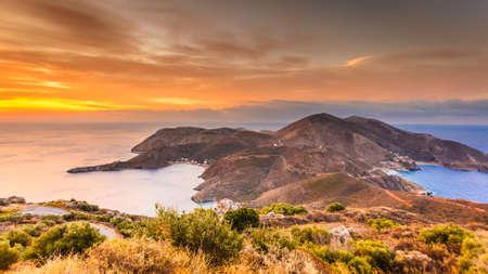 Southern Greece Mani Peninsula. Sea landscape rocky coastline, Peloponnese. Stok Fotoğraf