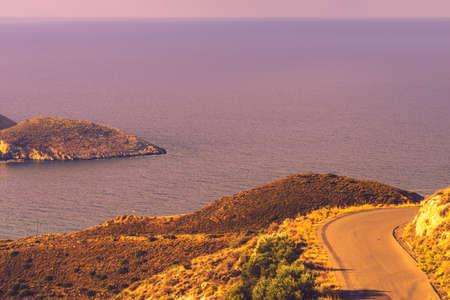 Southern Greece Mani Peninsula. Sea landscape rocky coastline, Peloponnese. Stockfoto