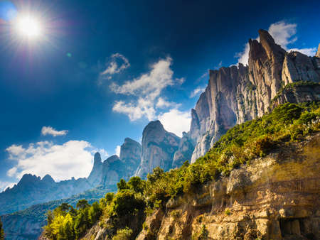 Mountain of Montserrat, rocky landscape, Catalonia Spain. Stock Photo