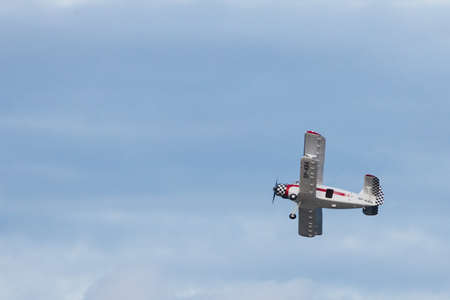 GDYNIA, POLAND - AUGUST 12, 2017: Airplane taking part in air show festival in Gdynia.