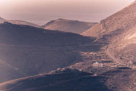 Greece Mani Peninsula. Rocky hills mountains landscape. Laconia Peloponnese, Europe Banque d'images