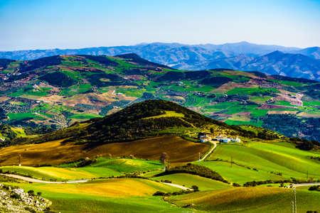 Sierra del Torcal mountain range near Antequera city, province Malaga, Andalusia, Spain. Tourist attraction.