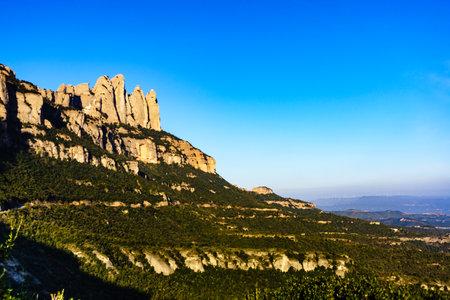 Mountain of Montserrat, rocky landscape, Catalonia Spain. Place to visit.