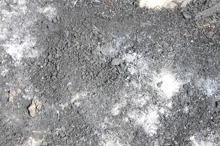 The texture of the ash left after the extinguished fire of the fire, you can use as a background and wallpaper