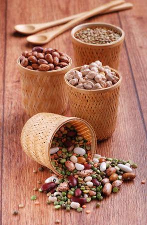 beans, chickpeas, lentils photo