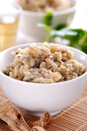 risotto with mushrooms photo