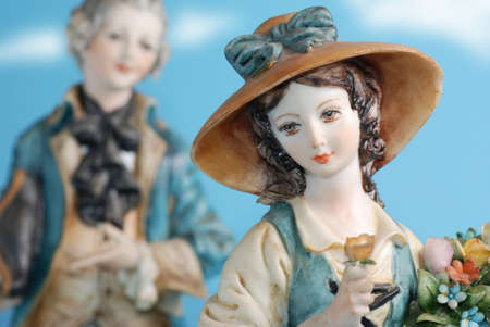 statues of porcelain capodimonte, Italian ceramic tradition Stock Photo - 15632348