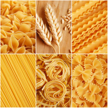 italian pasta collage made from six photography photo
