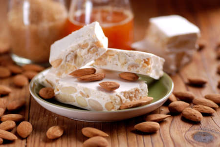 almond nougat - traditional Italian Christmas sweet