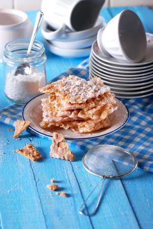 chiacchiere: chiacchiere - traditional carnival sweets Italian