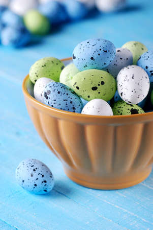 decorated eggs: decorated eggs for Easter in bowl