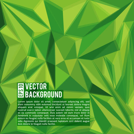 vector green abstract triangles polygonal background design