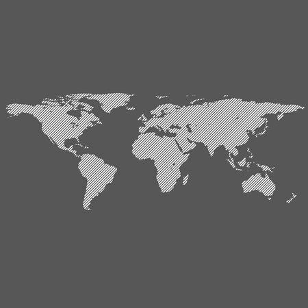 diyagonal çizgiler çizgili dünya vektör haritası Illustration