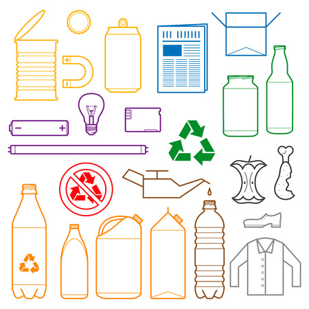 outlines icons for separate collection of waste