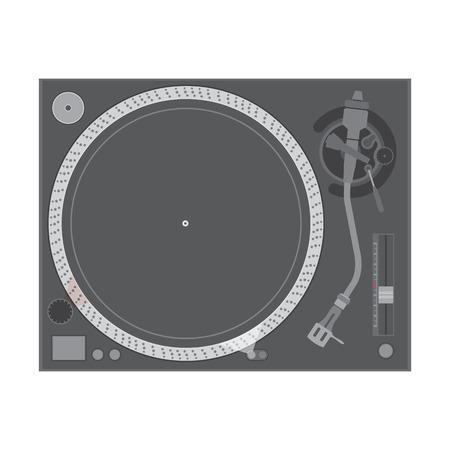 vector flat design vinyl dj turntable Vector
