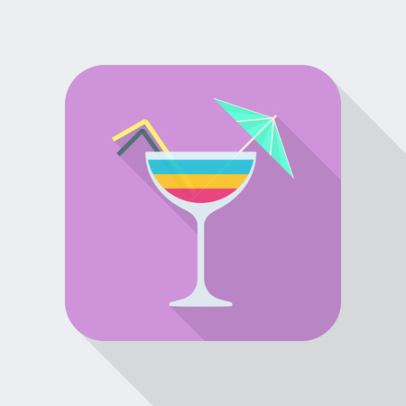aperitif: colored flat design rainbow layered cocktail