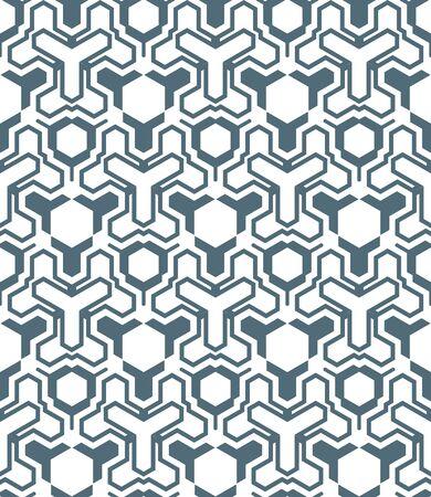 vektör koyu soyut geometrik kaleidoscopic monokrom sorunsuz desen beyaz arka