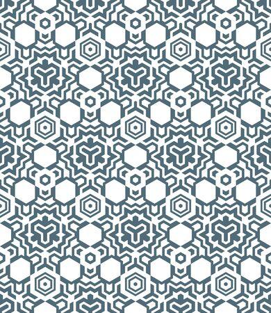 vector dark abstract geometric kaleidoscopic monochrome seamless pattern white background