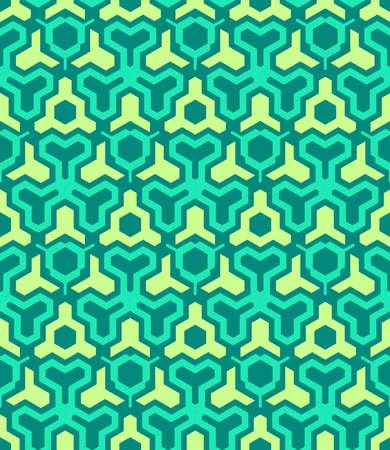 vektör soyut geometrik kaleidoscopic sarı yeşil seamless pattern
