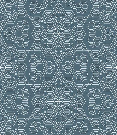 vektör anahat geometrik soyut monokrom mozaik sorunsuz desen koyu gri arkaplan