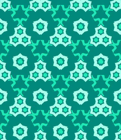 vector psychedelic abstract colorful green cyan seamless pattern