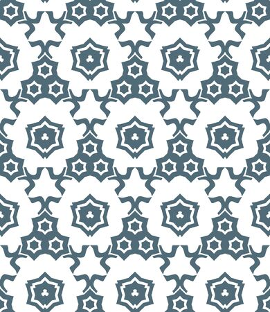 vector dark gray psychedelic abstract stars monochrome seamless pattern white background