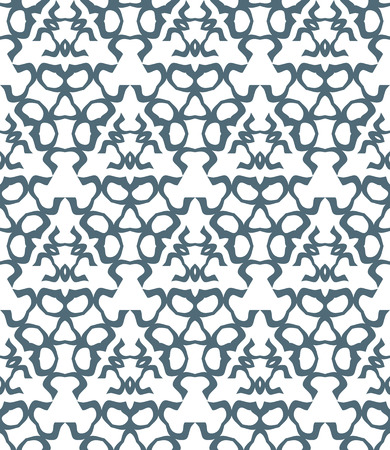 contrasts: vector dark gray psychedelic abstract monochrome seamless pattern white background Illustration