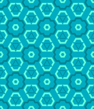 vector cyan blue green color abstract geometric seamless pattern