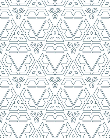 vector dark monochrome color outline abstract geometric seamless pattern white background