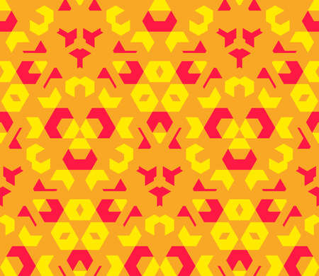 vector red orange yellow color abstract geometric seamless pattern