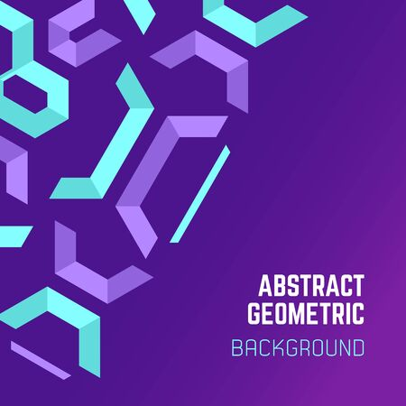 vector violet purple blue asymmetric colorful abstract geometric background