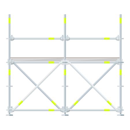 andamios: vector de diseño plano de aluminio andamios prefabricados aislados ilustración de fondo blanco Vectores