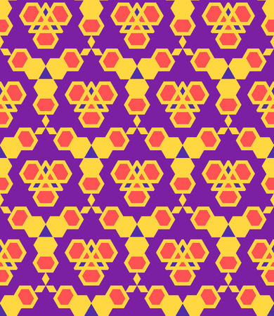 vector purple violet red orange color abstract triangle urban futuristic seamless pattern