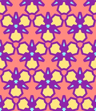 vektör pembe sarı mor mavi renk soyut üçgen kentsel fütüristik seamless pattern