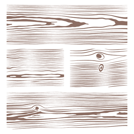 vector various monochrome wood texture set illustration white background Illustration