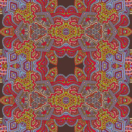 ベクトル色手描き zentangle シームレスなサイケデリックなシームレス パターン概要図 写真素材 - 49293959